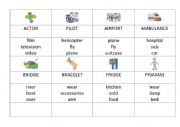 English Worksheet: Taboo for Movers
