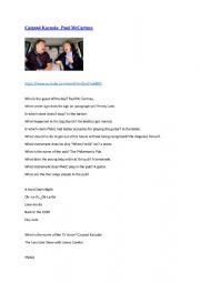 English Worksheet: Carpool Karaoke Paul Mac Cartney