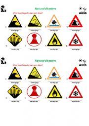 English Worksheet: Disaster warnings