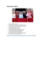English Worksheet: MONARCHY