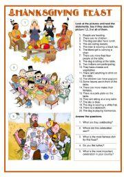 Picture description - Thanksgiving feast