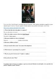 Little Women film questionnaire