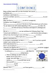 English Worksheet: Ted Talk:self-esteem