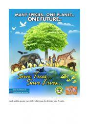 English Worksheet: Against deforestation