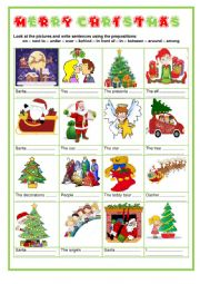 Merry Christmas - Prepositions