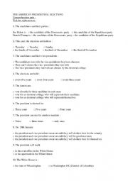 English worksheet: the 2020 us presidential election