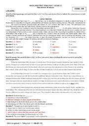 English worksheet: English 10 Vietnam