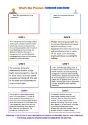English Worksheet: Technical Problems Role Play Cards and Modal Verbs of Probability