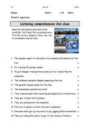 Listening Comprehension Test
