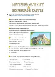 English Worksheet: Edinburgh Castle