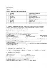 English Worksheet: B1 Destination Vocabulary Test