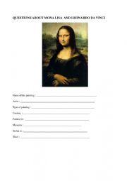 English Worksheet: Mona Lisa and Leonardo da Vinci