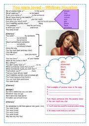 English Worksheet: You were love_ Whitney Houston