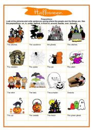 Halloween - prepositions