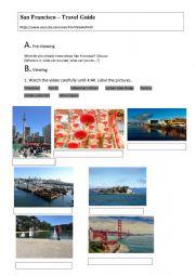 English Worksheet: San Francisco Travel Guide - Viewing / Listening