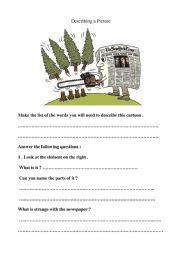 English Worksheet: A cartoon about deforestation