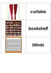English Worksheet: Flashcards - furniture