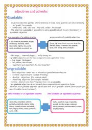 English Worksheet: gradable and ungradable adjectives and adverbs