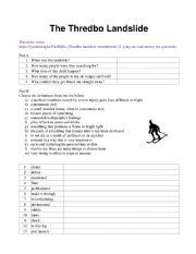 English Worksheet: The Thredbo Landslide