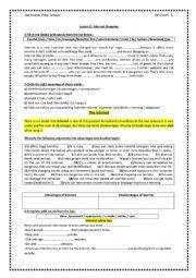 English Worksheet: Lesson 2 : Internet Shopping