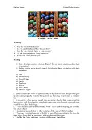 English Worksheet: Easter traditions around the world