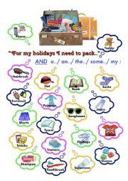 Holidays Speaking Practice Game