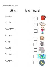 letter M and E