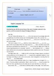 Grammar test  11th form