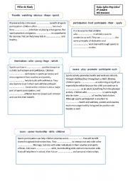 English Worksheet: sporting activities