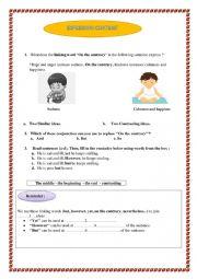 English Worksheet: EXPRESSING CONTRAST
