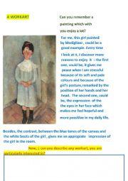 Description of a painting.