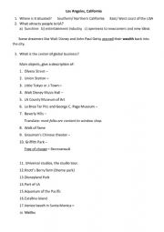 English Worksheet: Video about Los Angeles