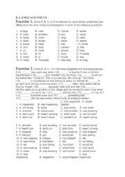 English worksheet: unit 1 - worksheet