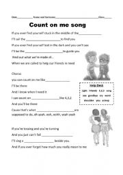 Count on me song by Bruno Mars