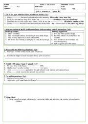 Quiz 1 bac unit 3 option b