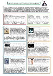 Strengths and Weaknesses - Appliances: Hyphenated Adjectives