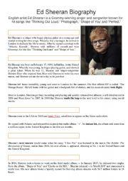 Ed Sheeran Biography