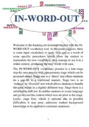 English worksheet: IN-WORD-OUT FOR �A�