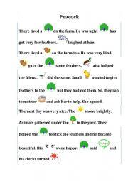 English Worksheet: Rebus Story - Farm Animals