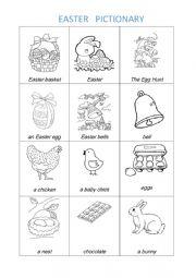English Worksheet: Easter Pictionary