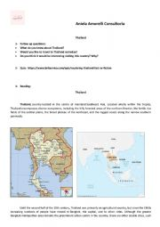 English Worksheet: Thailand Reading and questions