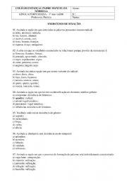English worksheet: port