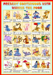 PRESENT CONTINUOUS WITH WINNIE THE POOH