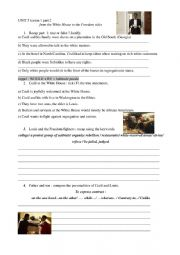 English Worksheet: Freedom fighters The Butler