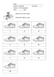 Pete the cat and his sneakers