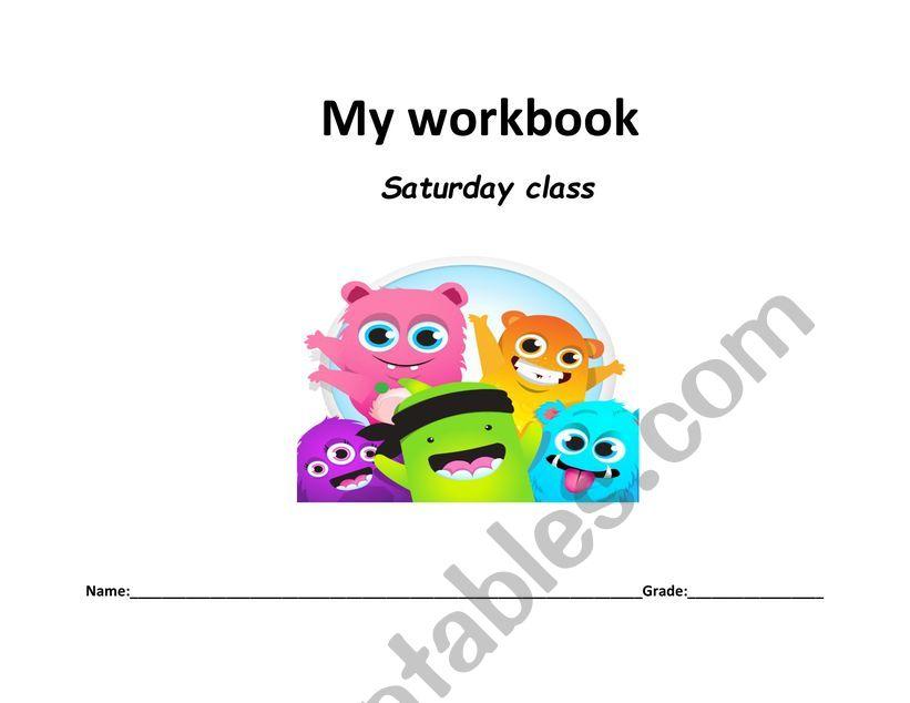 Workbook/spelling book worksheet