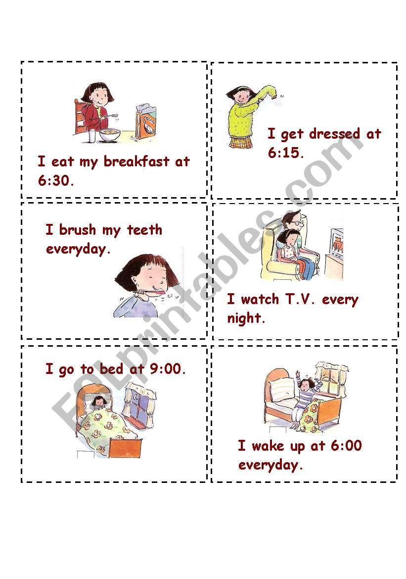 Miming activity cards  worksheet