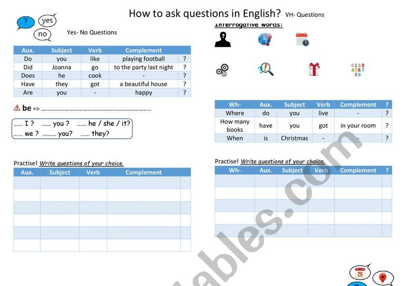 How to ask questions in English?
