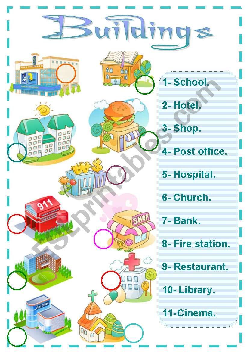 buildings worksheet