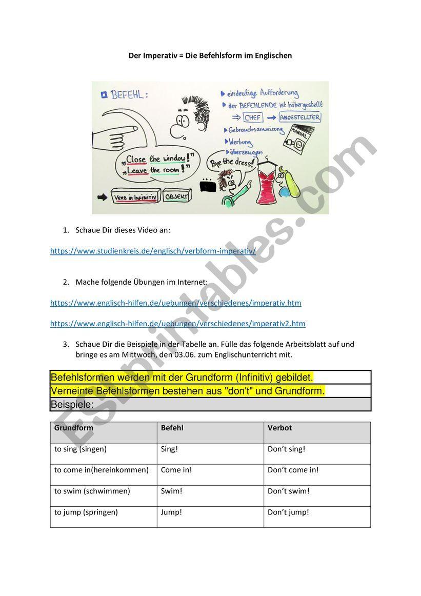 Imperativ Du Deutsch Lernen Deutsch Grammatik